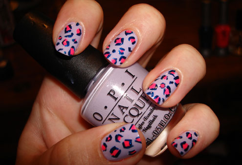 Leopard Print manicure Modern Nails with animal print for 2011