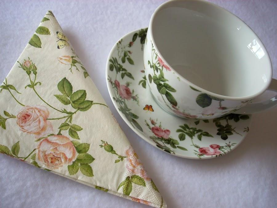 Decoupage para tu vajilla manualidades - Servilletas de papel decoradas para manualidades ...