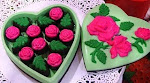 kotak coklat HEART ROSES (L)