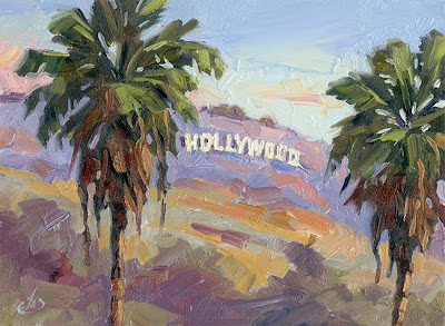 THE FAMOUS HOLLYWOOD SIGN DAILY PAINTING
