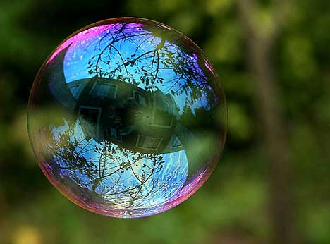 Interference and Reflection of Bubbles