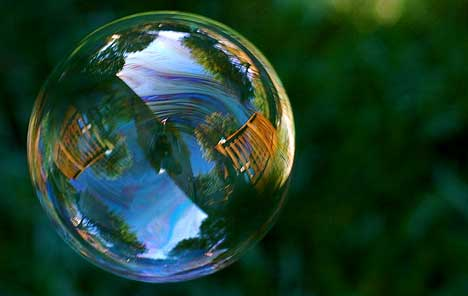 Beautiful bubbles effect Photography