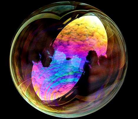 Beautiful bubbles effect Photography