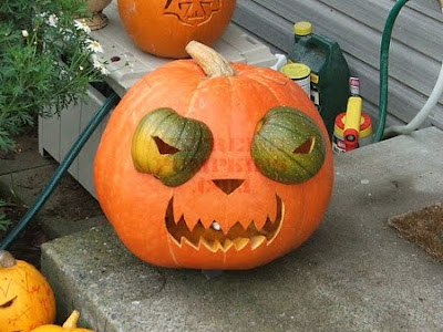 funny pumpkin carvings. The Buggy Eyed Pumpkin