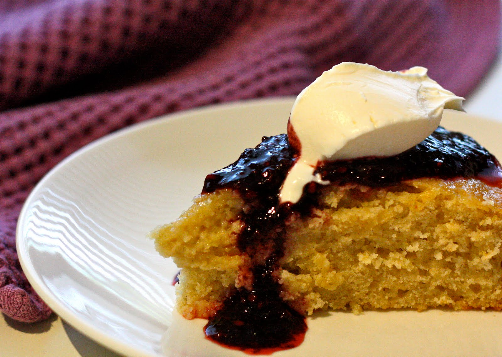 Chi Town Cook: Lime Yogurt Cake with Blackberry Sauce