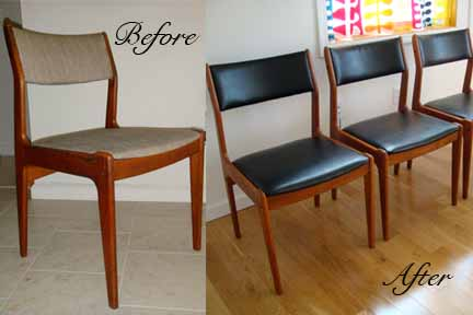 Design Art Life How To Reupholster And Repair Danish Modern Chairs