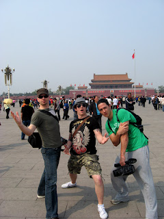 Dane, Luke and Danny in Tiananmen Square