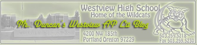 Mr. Duncan's Westview AP Lit Blog