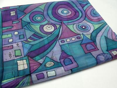 hundertwasser/freywille inspiráció selyemkendő ajándékba
