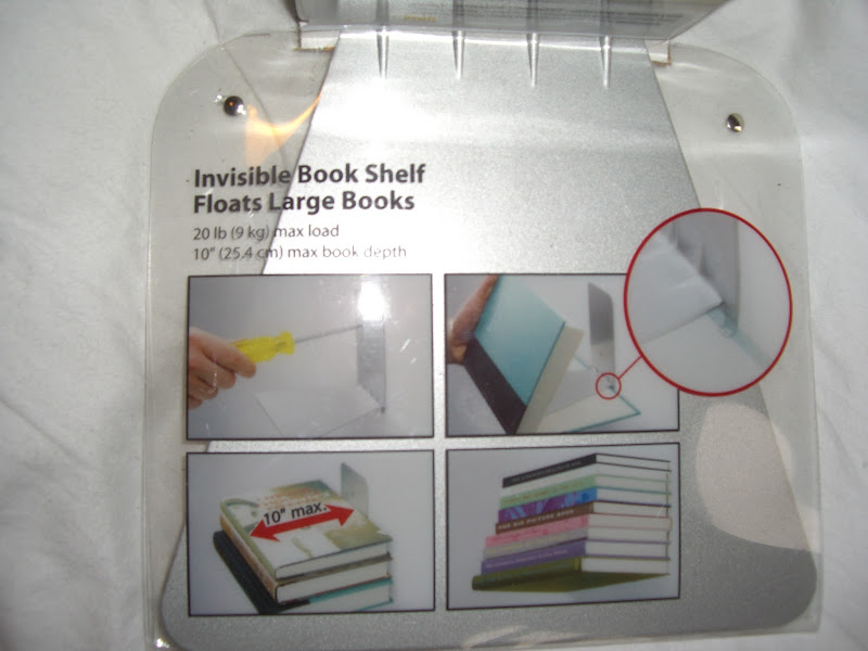 Invisible Shelves for Books