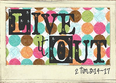live it out - designed by domestic godliness