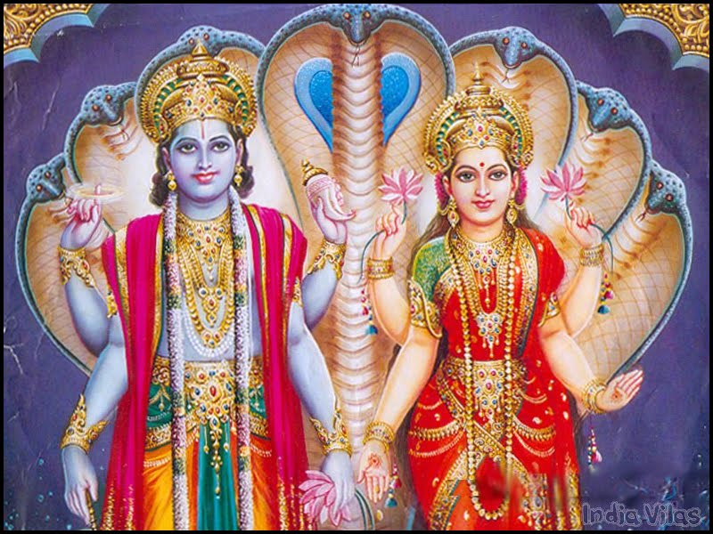 lord vishnu wallpapers. Lord Vishnu and Lakshmi