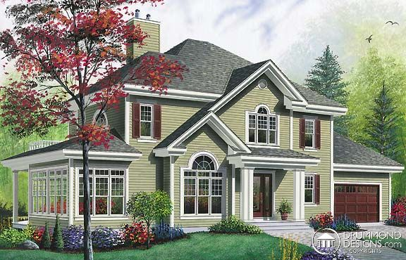 Glass bird home floor plan favourite for Traditional house plans