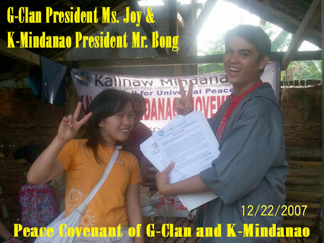 KMMI SIGNING OF PEACE COVENANT WITH THE G-CLAN