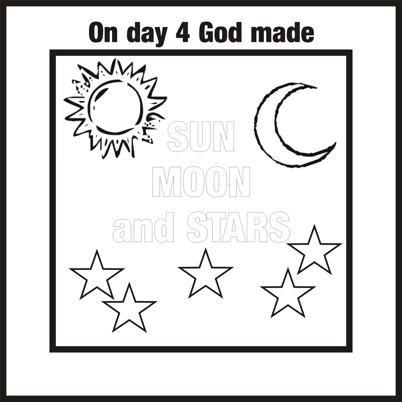 Free Coloring Pages Of God Creation Day 4