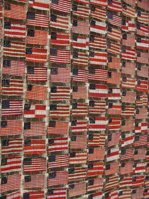 photo of: American Flag Quilt from Quilt National Traveling Display