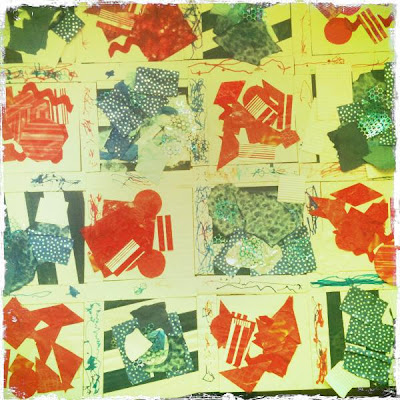 photo of: Patriotic Media Collage by Toddlers at NYC Childcare center