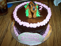 Choclate Cake Chocolate Ganache Icing with Scooby Doo.