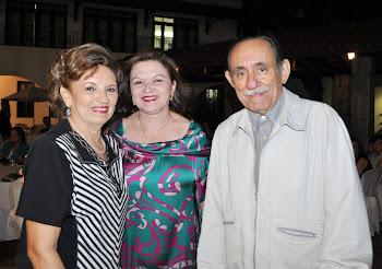 Giselda, Maria Evaneida e Genuíno Sales