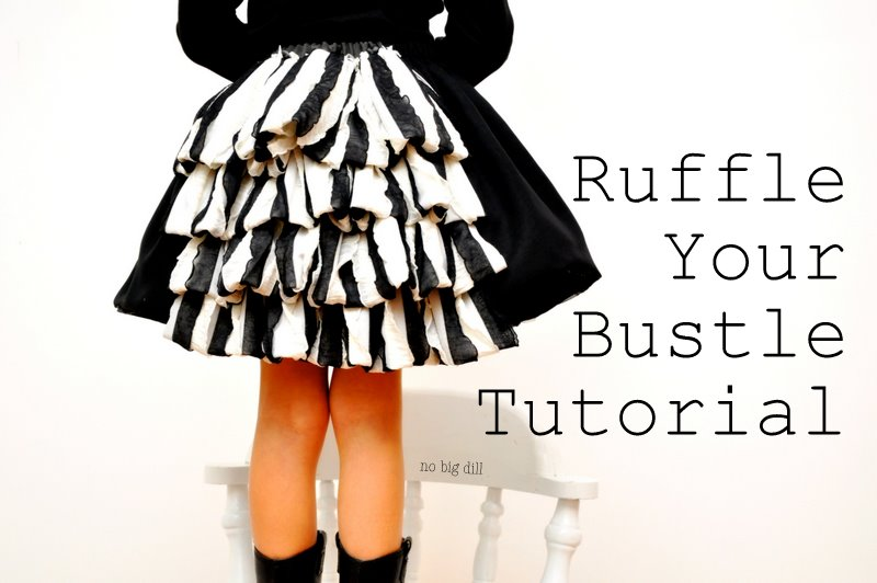 no big dill: I Colored Olive\'s Skirt or Ruffle Your Bustle Tutorial