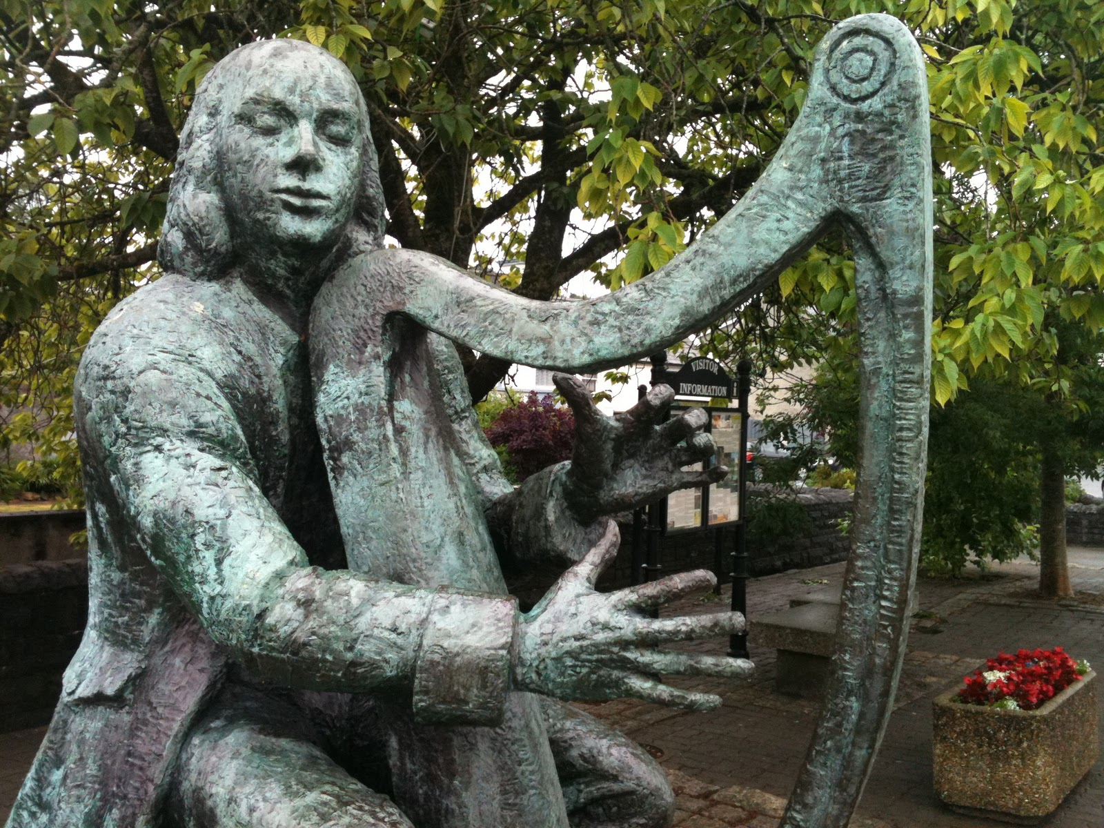 turlough o carolan the blind irish harpist there is a statue of him