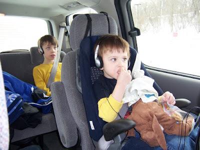 Corbin and Jeremy Watching Movies