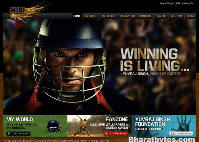 Yuvrajsingh.co.in - Yuvraj Singh website