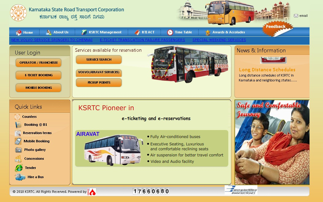Ksrtc Ticket Booking Online .