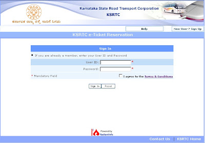 Ksrtc Ticket Booking Online