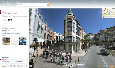 Bing Street view Maps launched by Microsoft at bing.com/maps