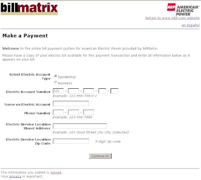 AEP.BillMatrix.com - AEP Electric Bill Payment Online