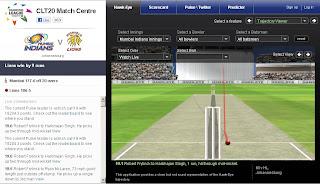 Watch Champions League T20 Live Score on www.clt20.com