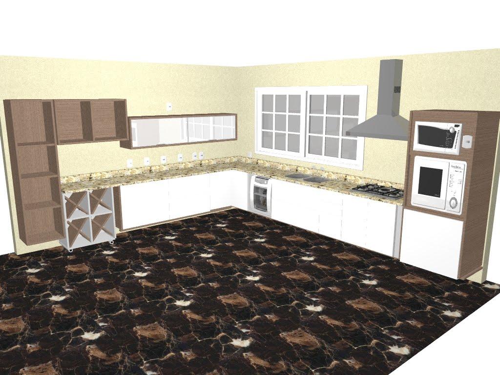 Projeto Aprovado da Cozinha Casa e Reforma #8E813D 1024 768