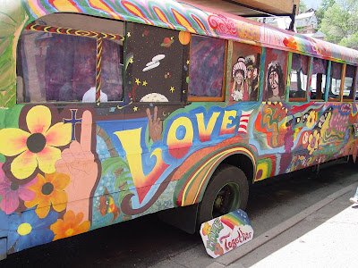 large hippie bus