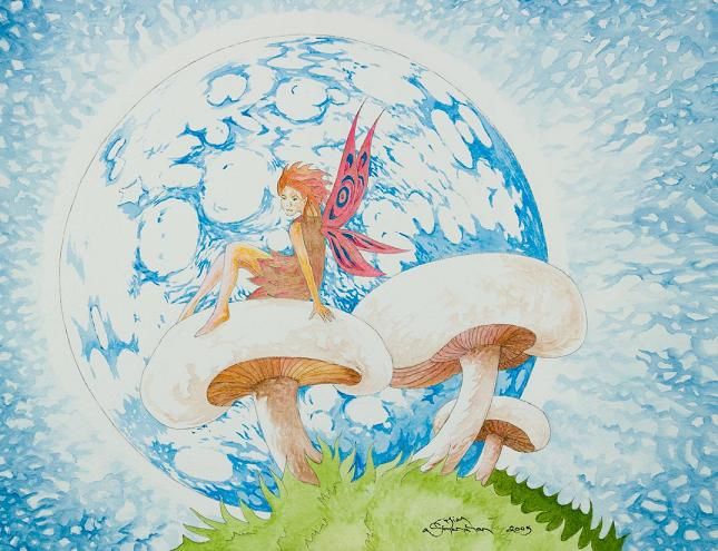 Moonstruck Fairy -- Sold, Prints for Sale