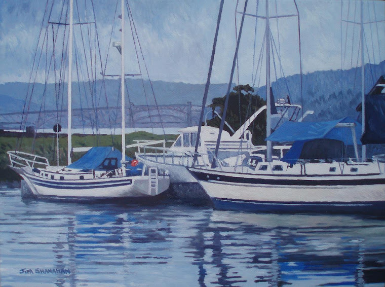 Evening Harbour -- For Sale Framed Euro 270