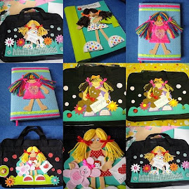 Cadernos e bolsas