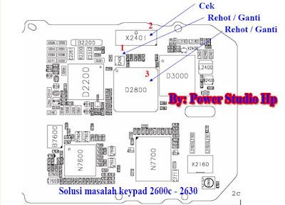SOLUTION TRACK KEYPAD NOKIA 2600c - Diagram PCB images