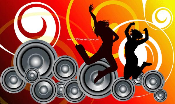 Vector: Fondo Musical | Diseño, ilustraciones vectoriales y ...