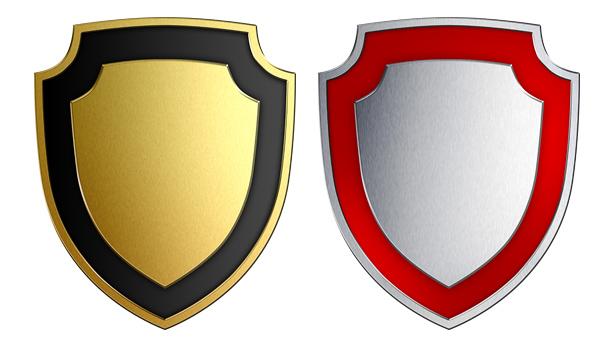 Escudos en oro y plata en jpg