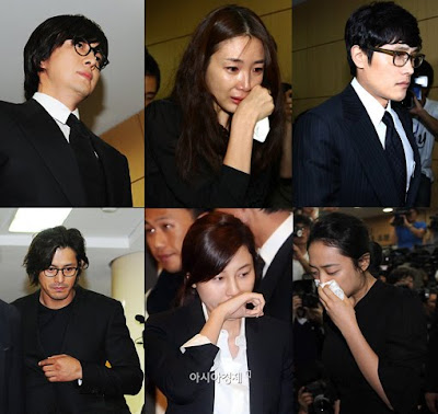 Park Yong Ha's Girlfriend attended Funeral