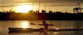 atardecer en  el Rio Gualeguaychú