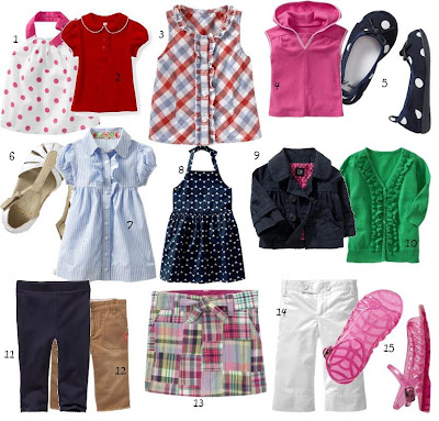baby girl clothes. Styles for aby girls have a