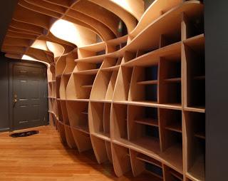 funky bookshelves