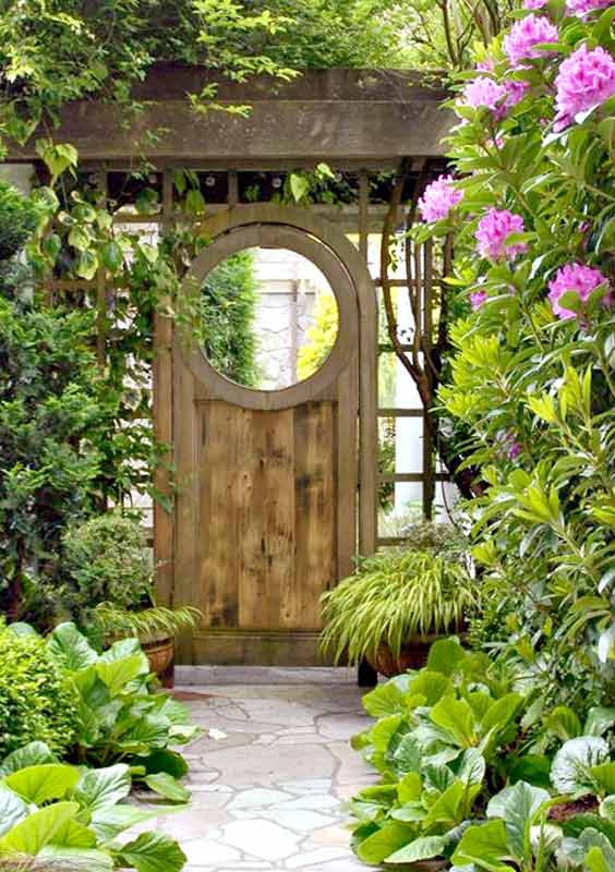 Lilac lane cottage the garden gate for Outdoor garden doors