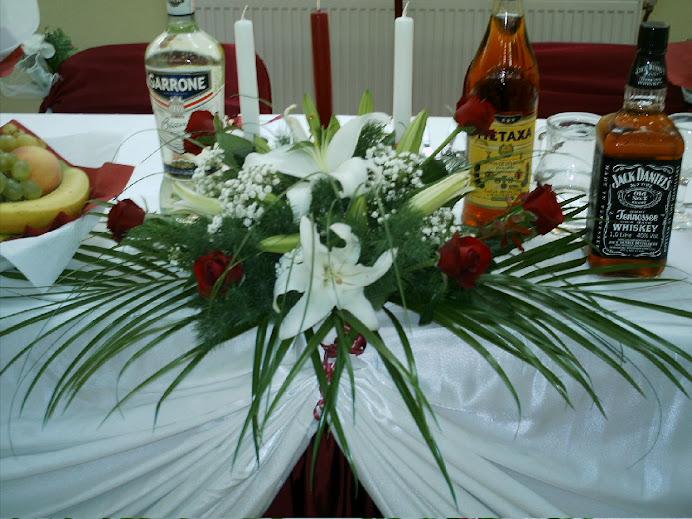 buchet masa mirilor