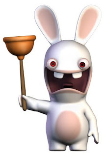 Wii Rabbid with a Plunger