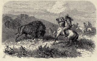 Indios cazando bisontes