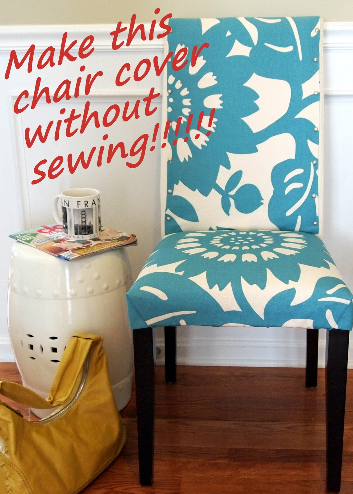Loveyourroom my morning slip cover chair project using for Patron pour housse de chaise