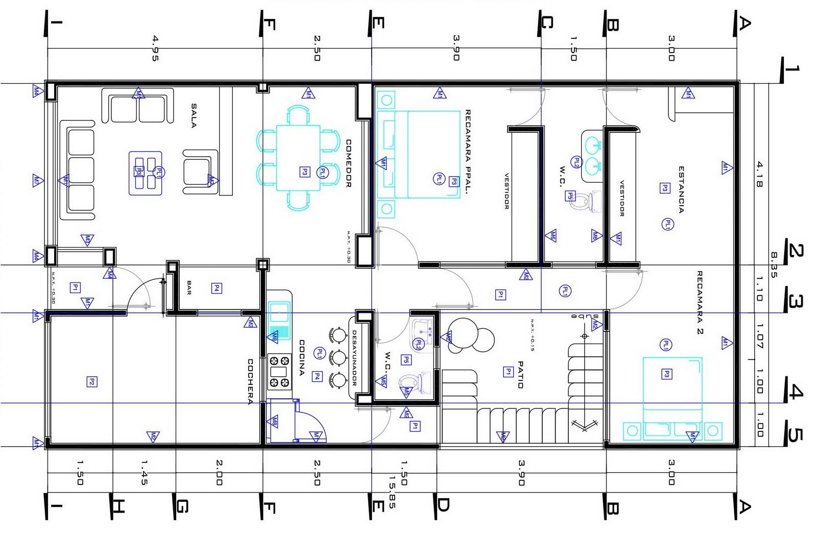 Pin planta arquitectonica on pinterest for Planta arquitectonica pdf